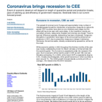Coronavirus brings recession to CEE