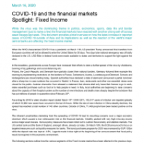 COVID-19 and the financial markets