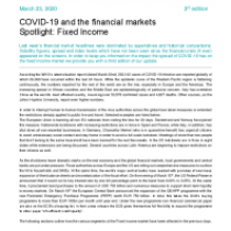 COVID-19 and the financial markets Spotlight: Fixed Income