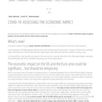 COVID-19: Assessing the economic impact