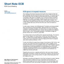 ECB agrees on targeted measures