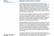 ECB eases capital requirements