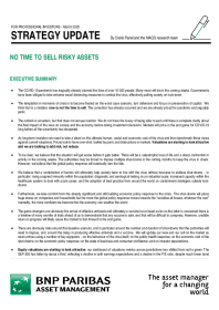 No Time To Sell Risky Assets