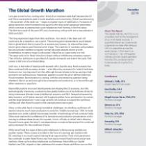 The Global Growth Marathon