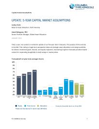Update: 5-year capital market assumptions