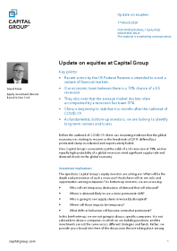 Update on equities at Capital Group