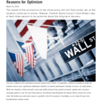 US Equity Market Update: Three Reasons for Optimism