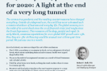 A light at the end of a very long tunnel