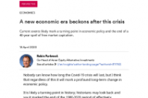 A new economic era beckons after this crisis