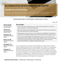 Alternative Investments In Depth Report—Speedboats and Battleships