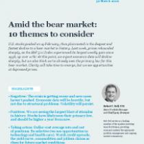 Amid the bear market: 10 themes to consider