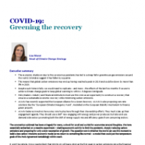 COVID-19: Greening the recovery