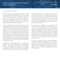 COVID-catalysed structural changes in global real estate?