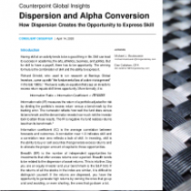Dispersion and Alpha Conversion