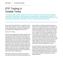 ETF Trading in Volatile Times