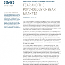 Fear and the psychology of bear markets