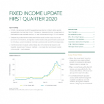 Fixed income update first quarter 2020