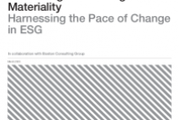 Harnessing the Pace of Change in ESG