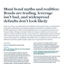 Muni bond myths and realities