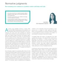 Normative judgments