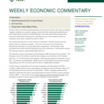 Small Businesses Cast A Large Shadow – Weekly Economic Commentary