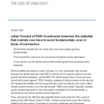 The end of analysis?