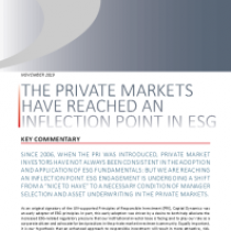 The private markets have reached an inflection point in ESG