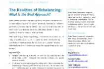 The Realities of Rebalancing