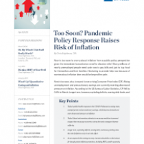 Too Soon? Pandemic Policy Response Raises Risk of Inflation
