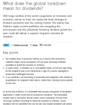What does the global lockdown mean for dividends?