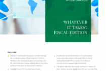 'WHATEVER IT TAKES': FISCAL EDITION