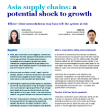 Asia supply chains: a potential shock to growth