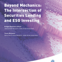 Beyond Mechanics: The Intersection of Securities Lending and ESG