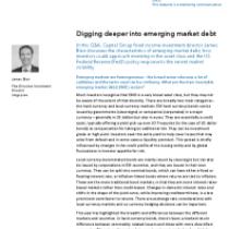 Digging deeper into emerging market debt