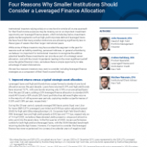 Four Reasons Why Smaller Institutions Should Consider a Leveraged Finance Allocation