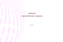 Insights Subscription Economics