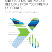 Introducing Stoxx® Factor And Esg-X Factor Indices: Get More From Your Premia Exposures