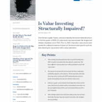 Is Value Investing Structurally Impaired?