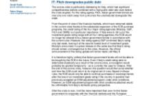 IT: Fitch downgrades public debt