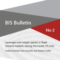Leverage and margin spirals in fixed income markets during the Covid-19 crisis
