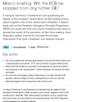 Macro briefing: Will the ECB be stopped from any further QE?