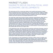 Markets move on political and economic developments