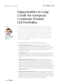 Opportunities in Long Credit for European Corporate Pension LDI Portfolios