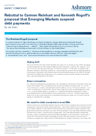 Rebuttal to Carmen Reinhart and Kenneth Rogoff's proposal that Emerging Markets suspend debt payments