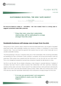 Sustainable investing, the new 'safe haven'?