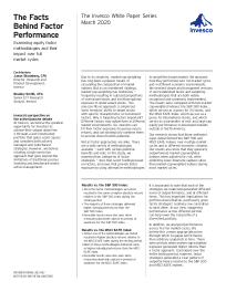 The Facts Behind Factor Performance