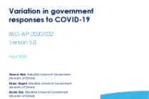 Variation in government responses to COVID-19