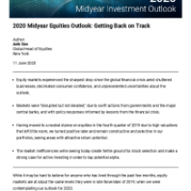 2020 Midyear Equities Outlook: Getting Back on Track