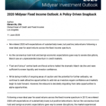 2020 Midyear Fixed Income Outlook: A Policy-Driven Snapback