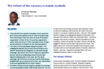 A motionless journey: From CFA franc to eco